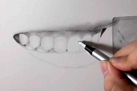 リアルな絵の描き方-歯の描き方25