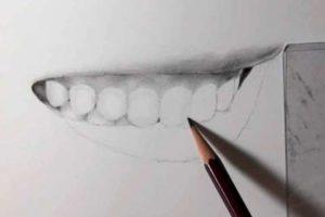 リアルな絵の描き方-歯の描き方26