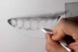 リアルな絵の描き方-歯の描き方27