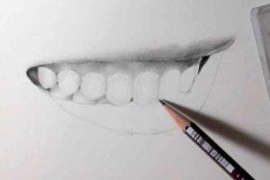 リアルな絵の描き方-歯の描き方28