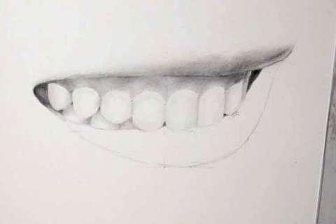 リアルな絵の描き方-歯の描き方29