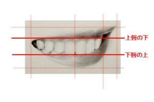 リアルな絵の描き方-歯の描き方3