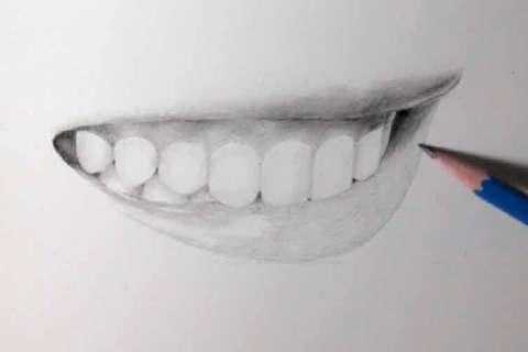 リアルな絵の描き方-歯の描き方30