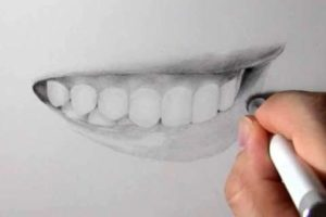 リアルな絵の描き方-歯の描き方31