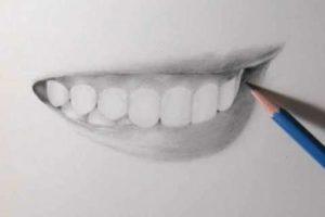 リアルな絵の描き方-歯の描き方34