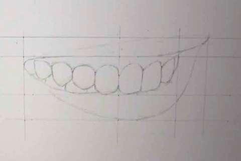 リアルな絵の描き方-歯の描き方8