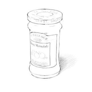 リアルな絵の描き方-マーマレードのスケッチの書き方完成