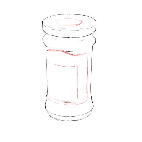 リアルな絵の描き方-マーマレードのスケッチの書き方12