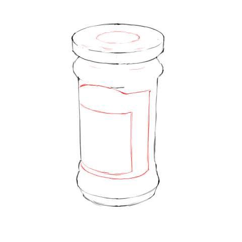 リアルな絵の描き方-マーマレードのスケッチの書き方13