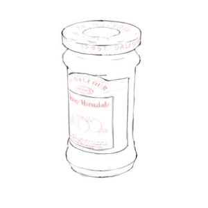 リアルな絵の描き方-マーマレードのスケッチの書き方14