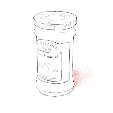 リアルな絵の描き方-マーマレードのスケッチの書き方15
