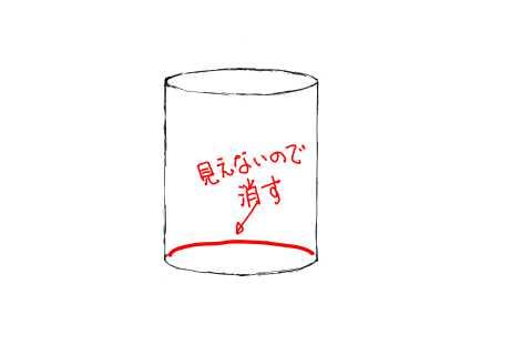 リアルな絵の描き方-円筒のスケッチの書き方09