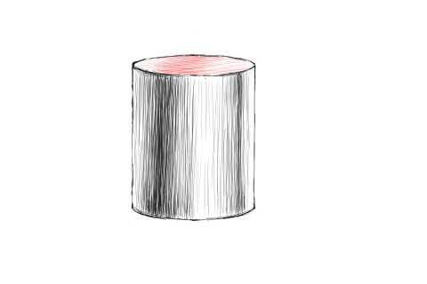 リアルな絵の描き方-円筒のスケッチの書き方12