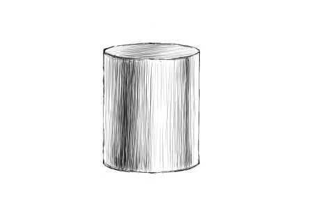 リアルな絵の描き方-円筒のスケッチの書き方13
