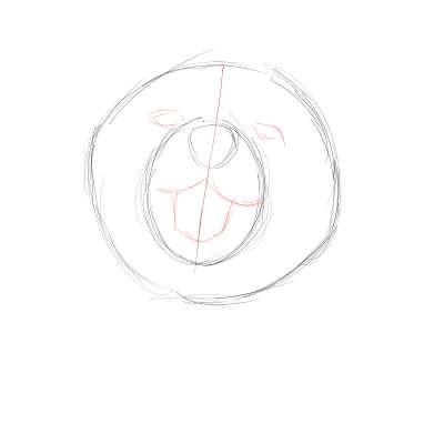 リアルな絵の描き方-柴犬のスケッチの書き方03