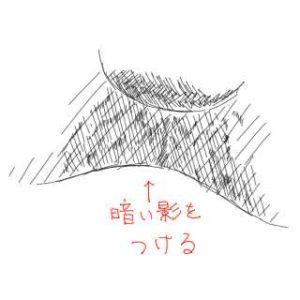 リアルな絵の描き方-柴犬の鼻の下書き方3