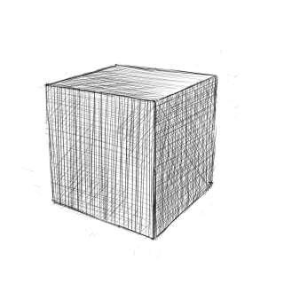 リアルな絵の描き方-立方体のスケッチの書き方-完成2