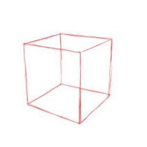 リアルな絵の描き方-立方体のスケッチの書き方08