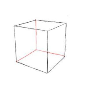 リアルな絵の描き方-立方体のスケッチの書き方09