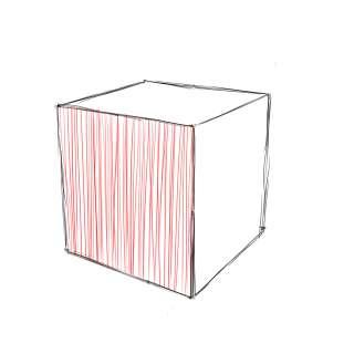 リアルな絵の描き方-立方体のスケッチの書き方10