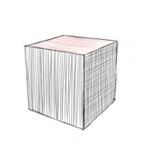 リアルな絵の描き方-立方体のスケッチの書き方12
