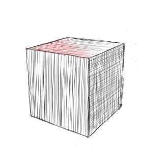 リアルな絵の描き方-立方体のスケッチの書き方13