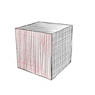 リアルな絵の描き方-立方体のスケッチの書き方14