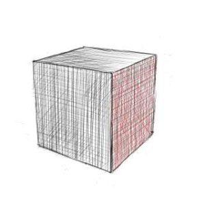 リアルな絵の描き方-立方体のスケッチの書き方15