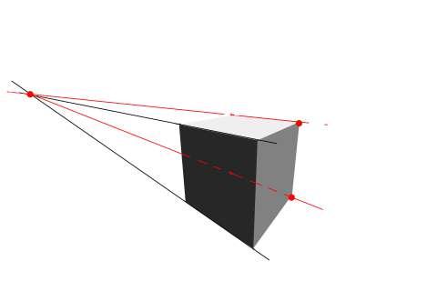 リアルな絵の描き方-立方体のスケッチの書き方2点透視2-2
