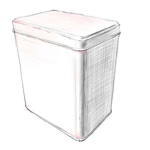 リアルな絵の描き方-紅茶の缶のスケッチの書き方_10
