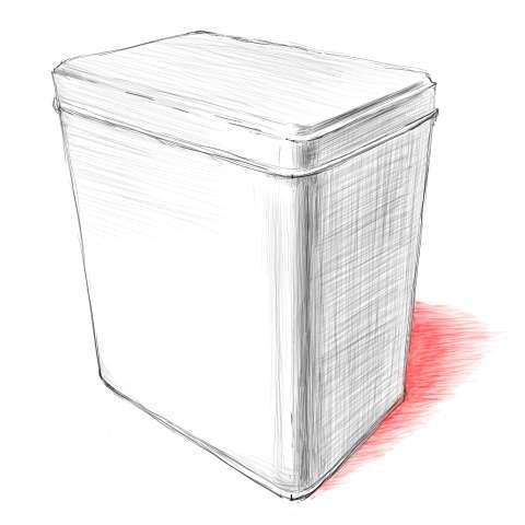 リアルな絵の描き方-紅茶の缶のスケッチの書き方_11