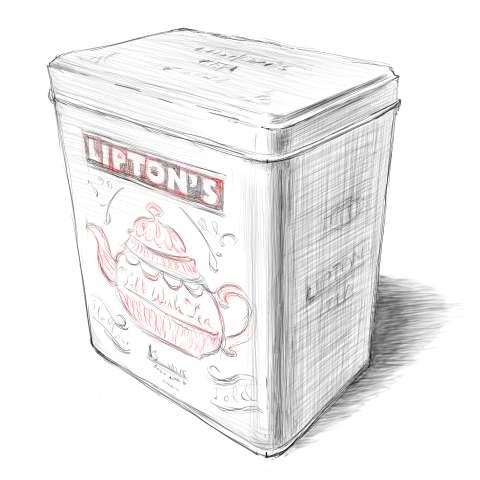 リアルな絵の描き方-紅茶の缶のスケッチの書き方_14