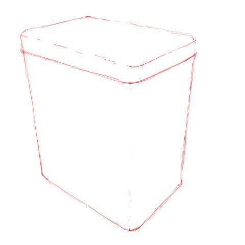 リアルな絵の描き方-紅茶の缶のスケッチの書き方_5