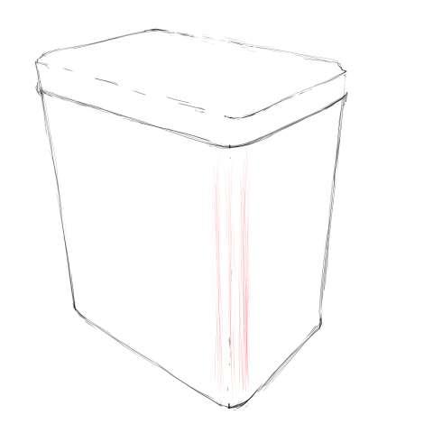 リアルな絵の描き方-紅茶の缶のスケッチの書き方_6