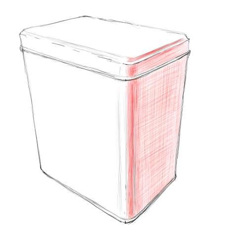 リアルな絵の描き方-紅茶の缶のスケッチの書き方_9