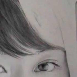 髪の毛の絵の書き方-リアルな鉛筆画の描き方1