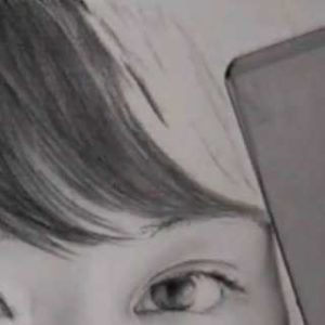 髪の毛の絵の書き方-リアルな鉛筆画の描き方3