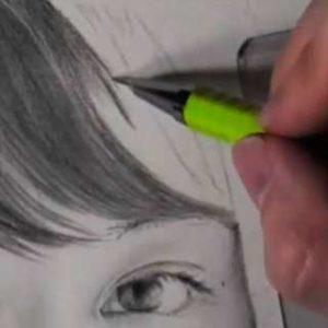 髪の毛の絵の書き方-リアルな鉛筆画の描き方4