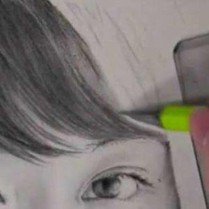 髪の毛の絵の書き方-リアルな鉛筆画の描き方5