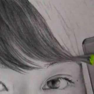 髪の毛の絵の書き方-リアルな鉛筆画の描き方6