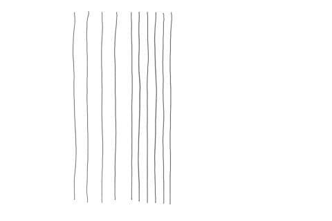 絵の描き方-たて線の練習
