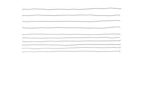 絵の描き方-よこ線の練習
