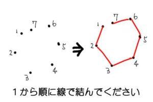 線で結ぶ例