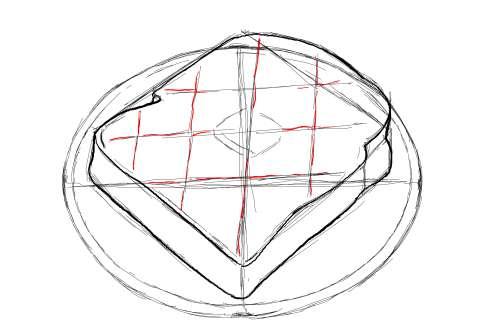 トーストの絵の描き方-初心者でも簡単なイラスト-11