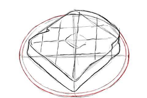 トーストの絵の描き方-初心者でも簡単なイラスト-13