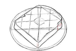トーストの絵の描き方-初心者でも簡単なイラスト-14