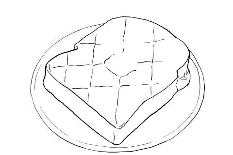トーストの絵の描き方-初心者でも簡単なイラスト-15