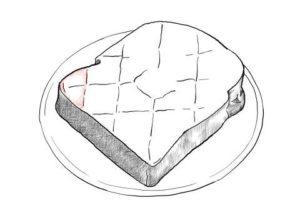 トーストの絵の描き方-初心者でも簡単なイラスト-18