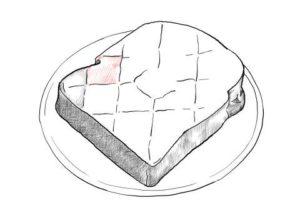 トーストの絵の描き方-初心者でも簡単なイラスト-19