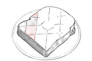 トーストの絵の描き方-初心者でも簡単なイラスト-20